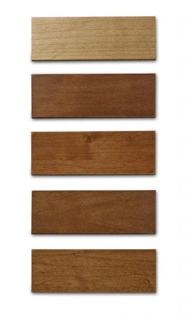 Cabinet refacing stain samples