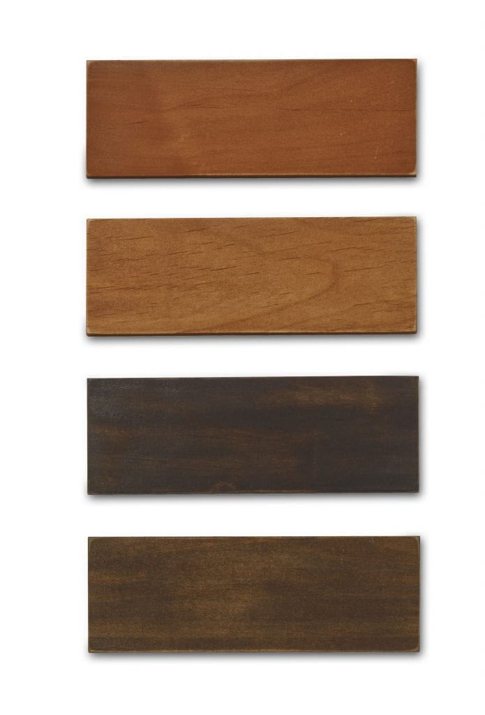 Addition cabinet refacing stain sample